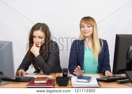 The Situation In The Office - The Phone Rang, The Two Collaborators Looked At Him