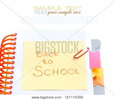 Photo With Notebook Reminder - Back To School Concept