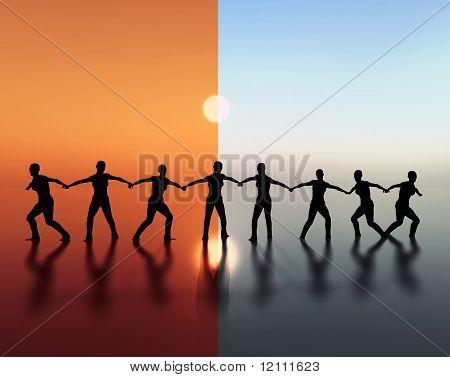 Team spirit and leadership