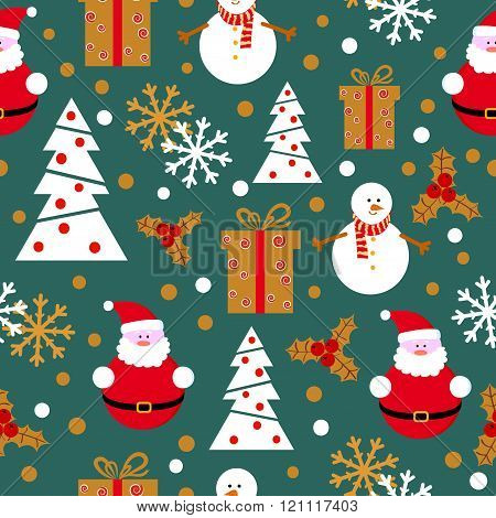 Christmas and New Year vector background.
