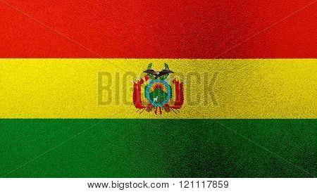 Flag of Bolivia , Bolivian flag painted on glass