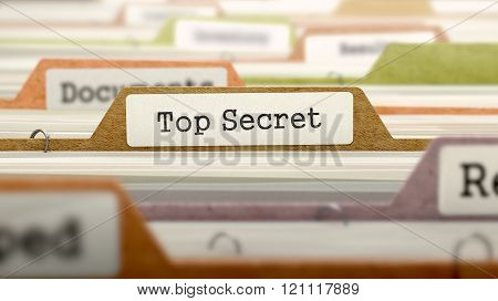 File Folder Labeled as Top Secret.