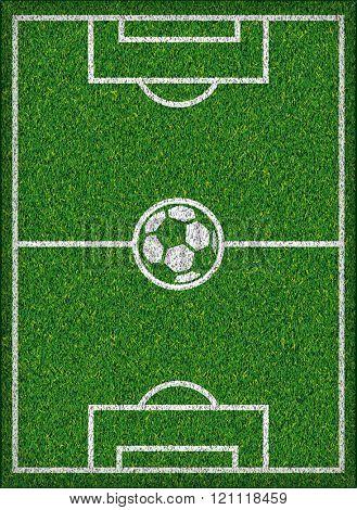 Football field Soccer concept Vector illustration