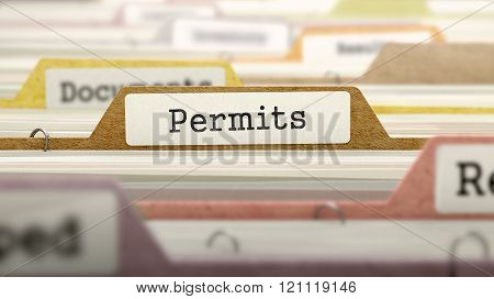 Folder in Catalog Marked as Permits.