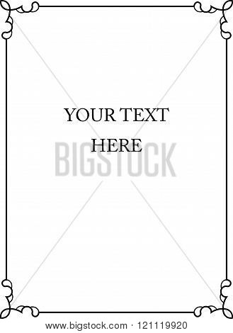 Border frame plaque deco banner vector