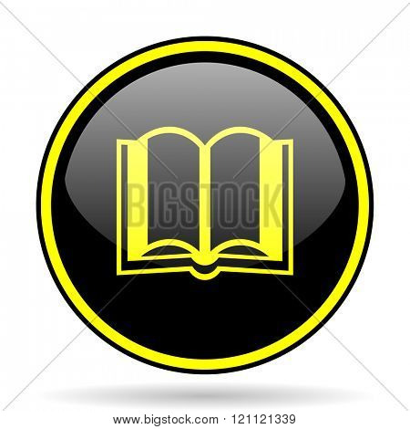 book black and yellow modern glossy web icon