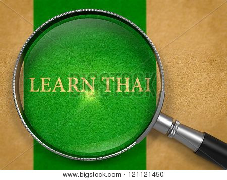 Learn Thai through Loupe on Old Paper.