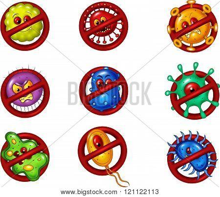 Illustration of stop virus