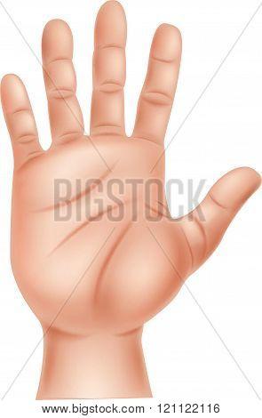 Illustration of human hand