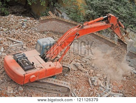 excavator does some work in Chongqing