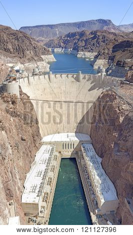 Hoover Dam High Quality Vertical Panorama, Usa.