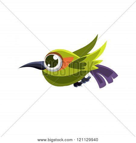 Cute Green Colibri