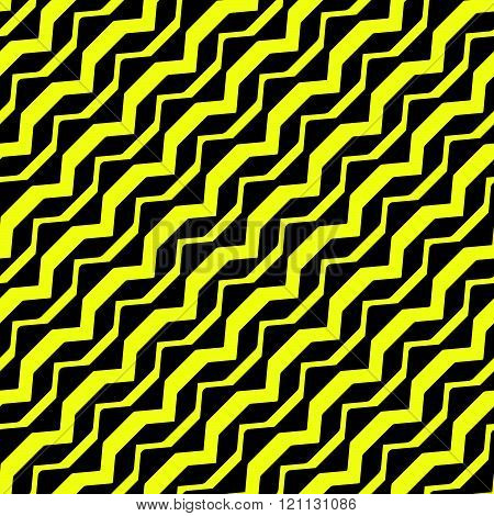 Diagonal Curved Yellow Stripes