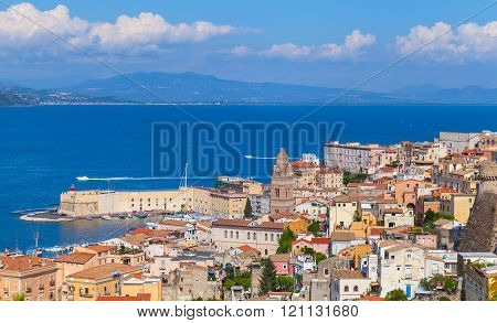 Cityscape Of Gaeta Resort Town In Summertime