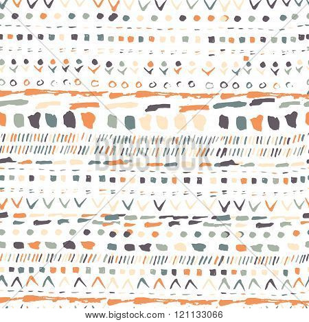 Vector geometric pattern. Geometric hand drawn pattern in tribal Navajo style. Geometric pattern azt