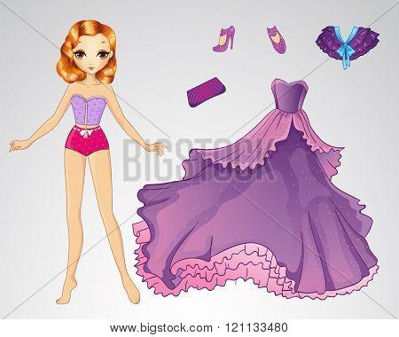 Paper Princess In Purple Dress