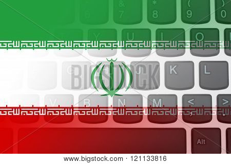 Restricted Internet access in Iran, The Iranian flag on a  computer keyboard