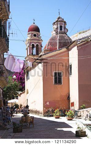 Monastery Of The Virgin Mary Of Tenedos In Corfu