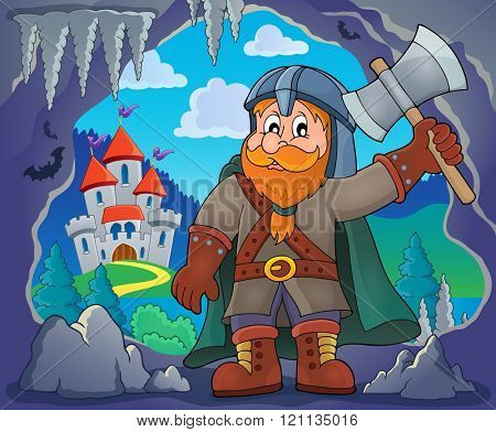Dwarf warrior theme image 3 - eps10 vector illustration.