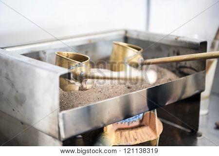 Two Cute Pots To Prepare Turkish Coffee