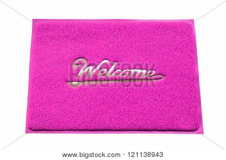 Colorful plastic welcome doormat