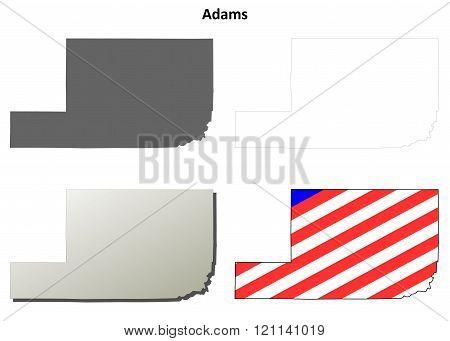 Adams County, Washington outline map set