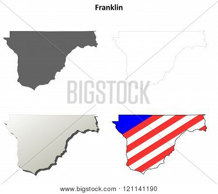 Franklin County, Washington outline map set