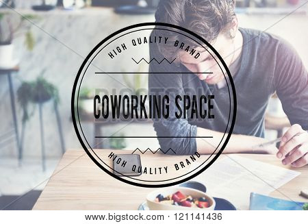 Coworking Space Place of Work Office Concept