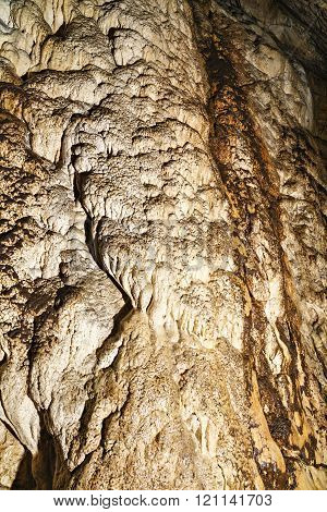 Geological texture inside a cave