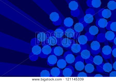 Abstract Blue Bokeh And Volumetric Light Background