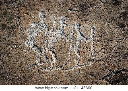 Rock Petroglyphs Of Zalavruga. Russia