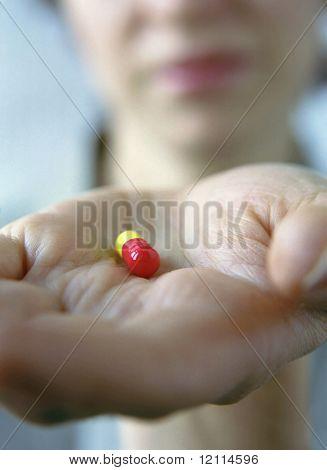 Frau und tablet