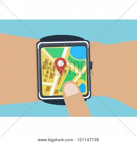 Vector smartwatch navigator