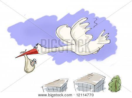 stork to bring newborn