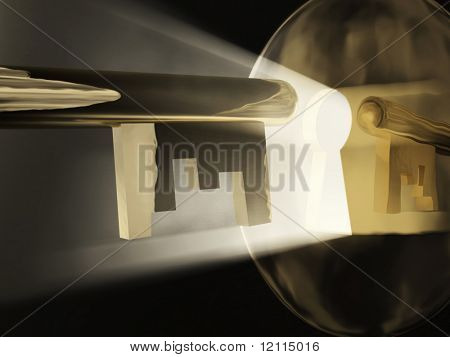 magic key before a keyhole