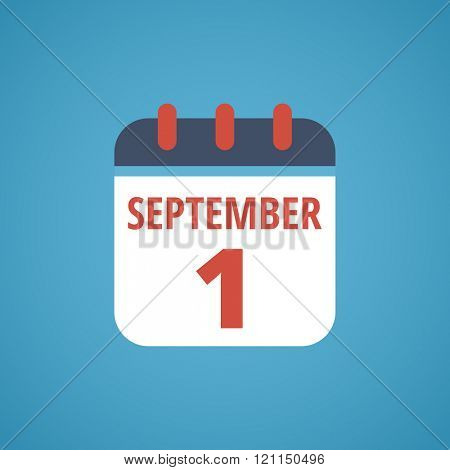 Calendar Icon - September 1 number - Calendar Icon Vector - Calendar Icon Picture - Calendar Icon Graphic - Calendar Icon JPG - Calendar Icon JPEG - Calendar Icon EPS - Calendar Icon AI
