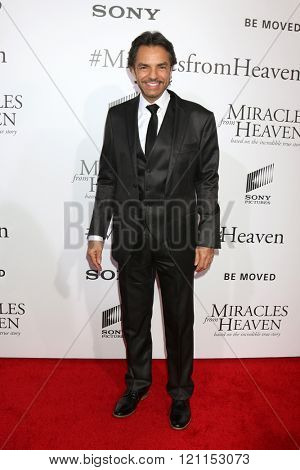 LOS ANGELES - MAR 9:  Eugenio Derbez at the Miracles From Heaven Premiere at the ArcLight Hollywood Theaters on March 9, 2016 in Los Angeles, CA
