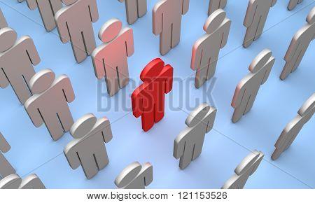 Volunteer (symbolic Figures Of People).