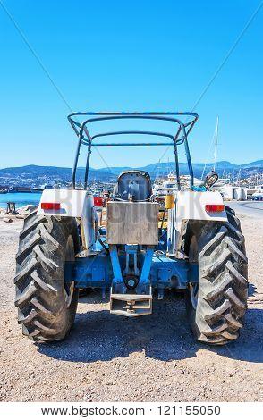 Old Tractor In Agios Nikolaos