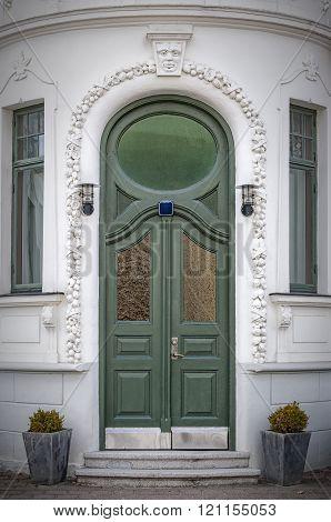 Ornate Green Doorway