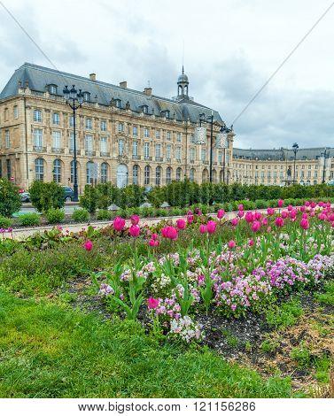 Place De La Bourse At Spring, Bordeaux