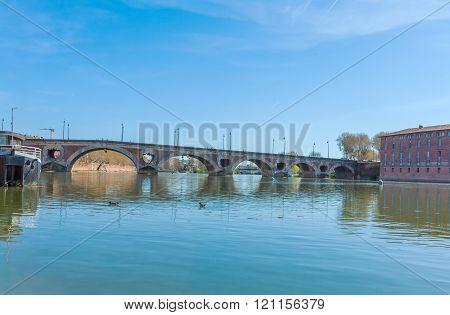 Stone Bridge Across Garonne, Toulouse