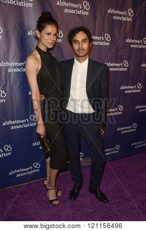 LOS ANGELES - MAR 9:  Neha Kapur, Kunal Nayyar at the A Night at Sardis - 2016 Alzheimer's Association Event at the Beverly Hilton Hotel on March 9, 2016 in Beverly Hills, CA