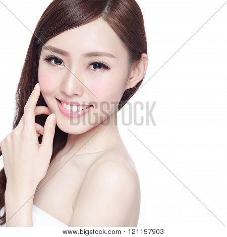 Charming Woman Skin Care Face