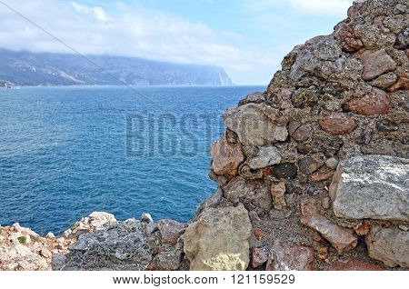 The view of Cape Aya in Crimea