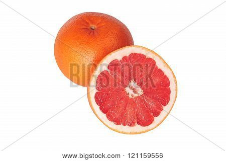 Pink Grapefruit Isolated