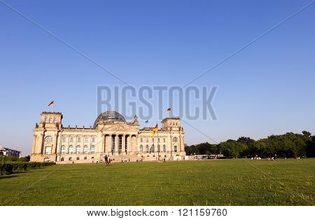 BERLIN, GERMANY - MAY 22, 2014: The Reichstag building in Berlin. Germany's parliament