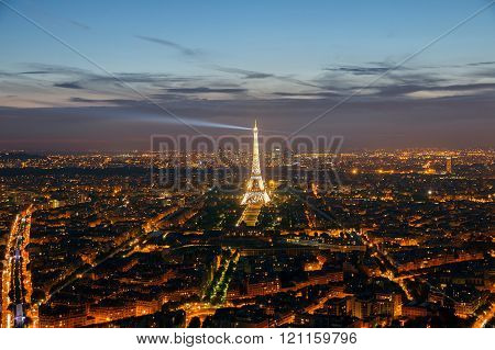 Paris Eiffel Sunset