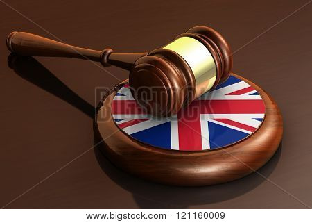 Uk Law And British Justice Concept