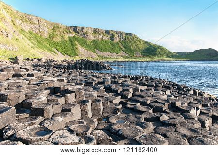 Giants Causeway And Cliffs In Northern Ireland